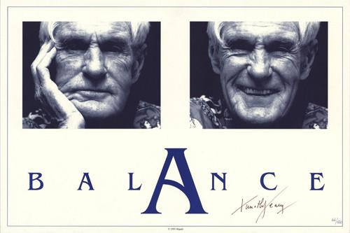 "Timothy Leary Signed And Numbered ""Balance"" Poster - Shakedown Gallery"