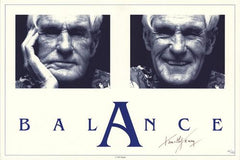 "Timothy Leary Signed And Numbered ""Balance"" Poster"