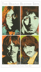 "Chuck Sperry Four Piece ""I'd Love To Turn You On"" Beatle Blotter Art Set"