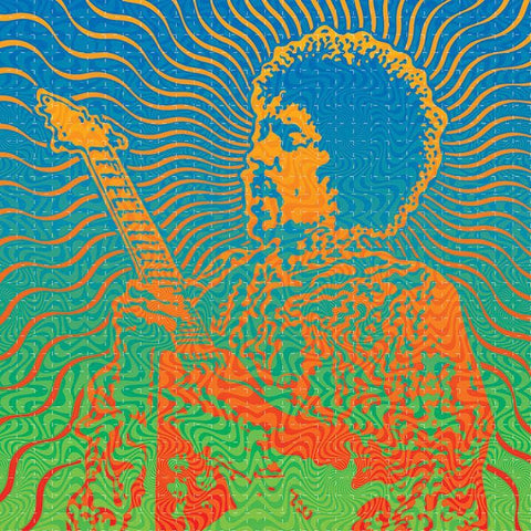 Jimi: Isle of Wight Blotter Art - Shakedown Gallery