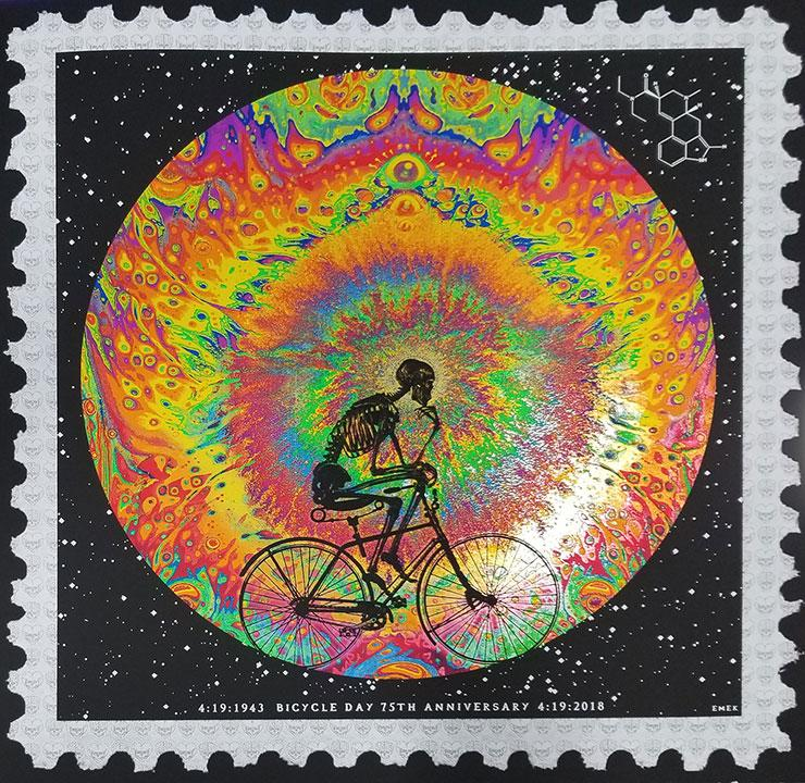 Emek 75th Anniversary Bicycle Day Poster and Blotter Art Set - Shakedown Gallery