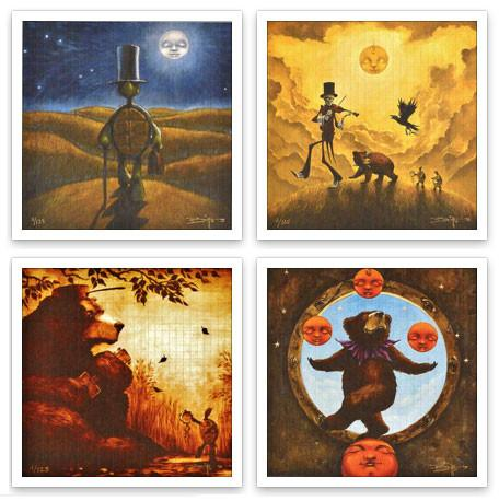 "Richard Biffle ""Grin And Bear It"" Blotter Art Set - Shakedown Gallery"