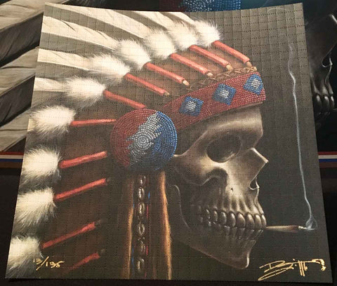 "Richard Biffle ""Head Chief"" Signed, Numbered Blotter Art"