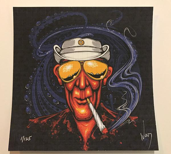 """Bat Country"" Hunter S Thompson Signed Blotter Art By Jeff Wood - Shakedown Gallery"