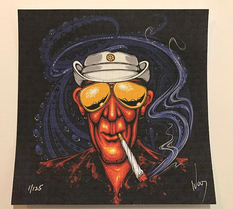 """Bat Country"" Hunter S Thompson Blotter Art By Jeff Wood - Shakedown Gallery"