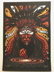 """Shaman"" Blotter Art by Jeff Wood - Shakedown Gallery"