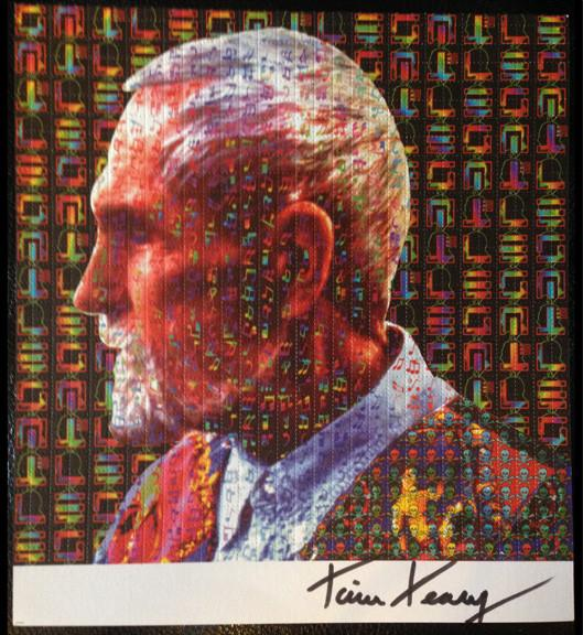 Timothy Leary Signed Profile Blotter Art - Shakedown Gallery