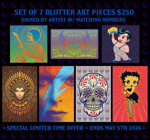 Dave Hunter Gammalyte Blotter Art Set - Shakedown Gallery