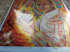 Alex Grey St Albert Giclée on Foil