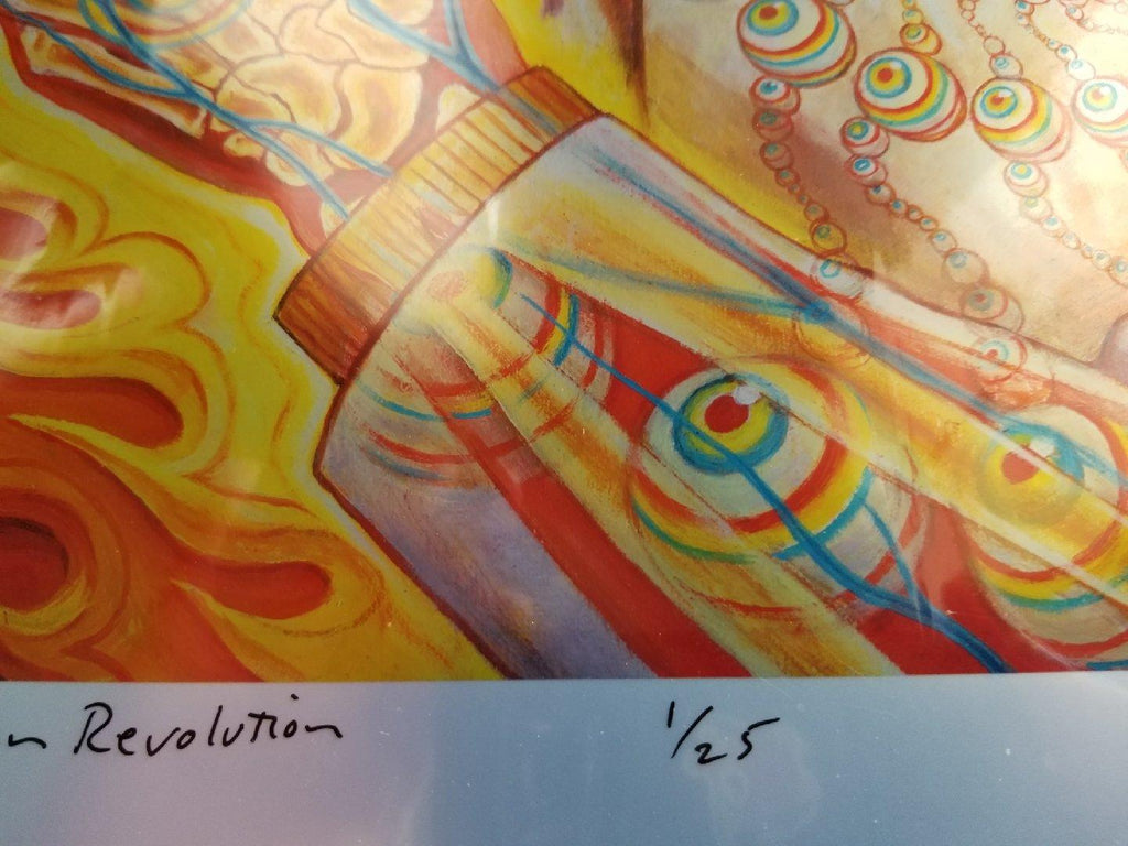 Alex Grey St Albert Giclée on Foil - Shakedown Gallery