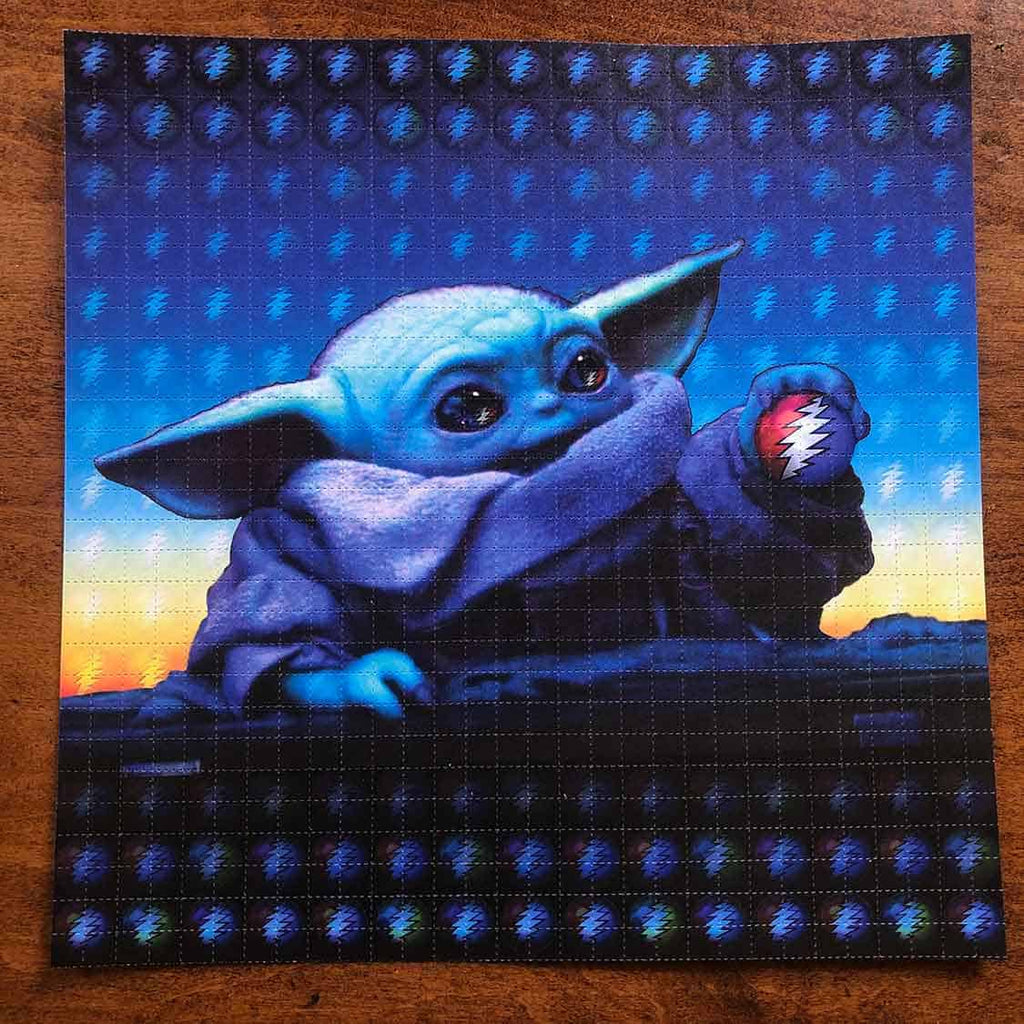 Twilight Dead Baby Yoda Blotter Art