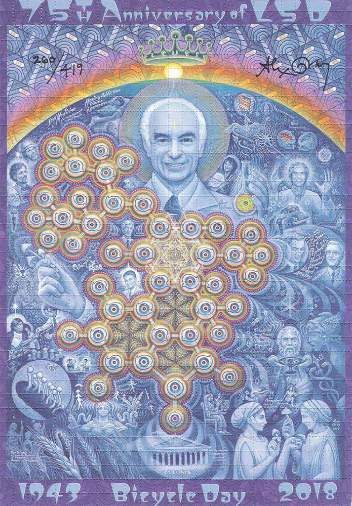 "Alex Grey ""New Eleusis"" 75th Anniversary Blotter Art"