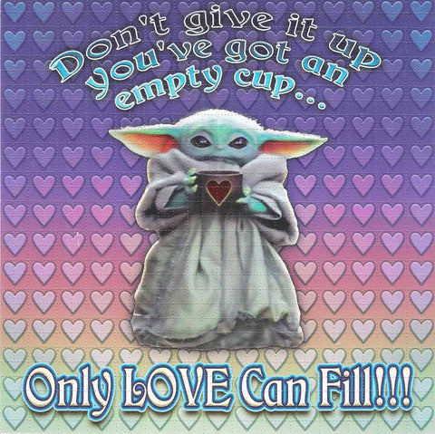 Only Love Can Fill Baby Yoda Blotter Art