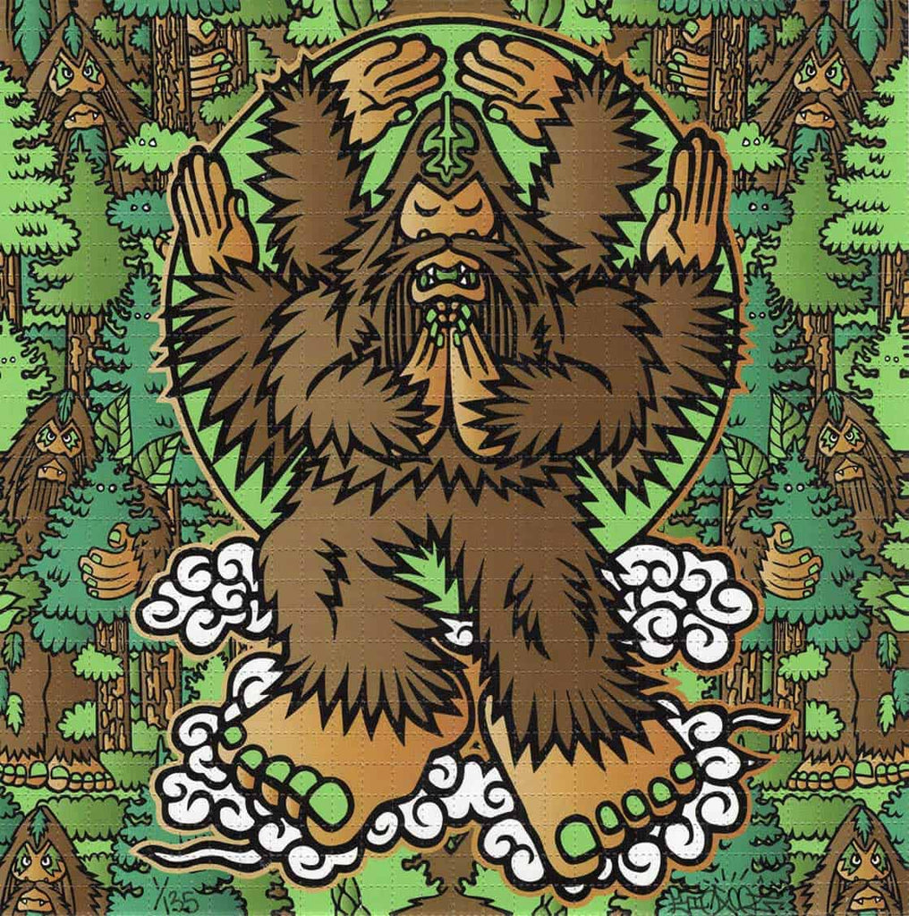 Woodland Bigfoot Blotter Art