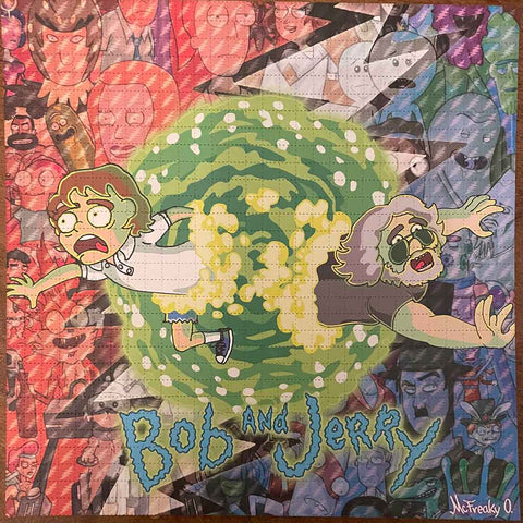 Bob and Jerry Rick and Morty Style Blotter Art