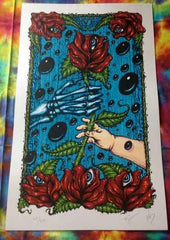 Jeff Wood Box of Rain Tarotpin poster - Shakedown Gallery