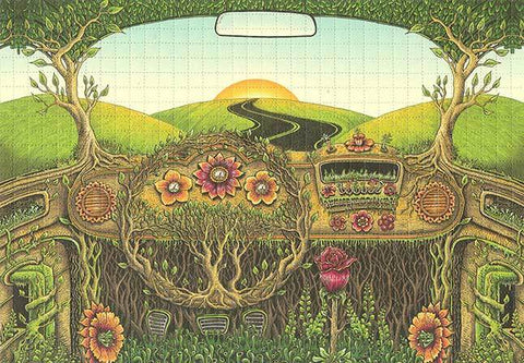 Emek Flower Car Blotter Art