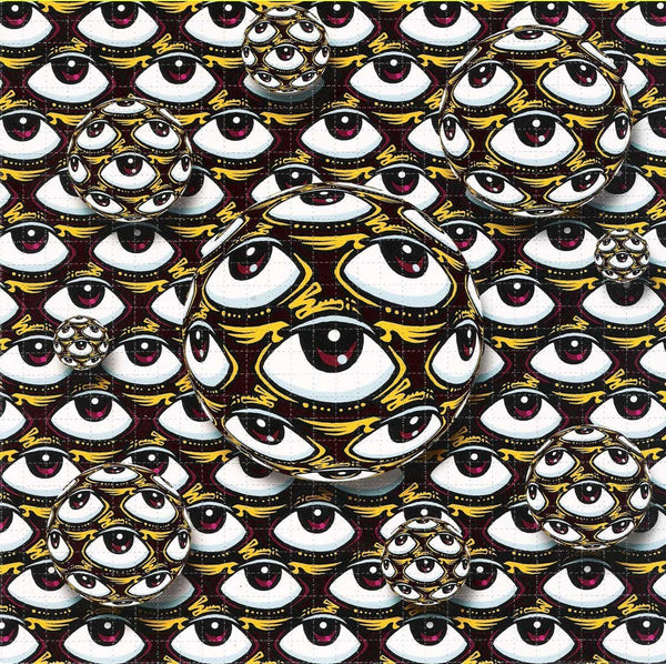 Flying Eyeball Blotter Art