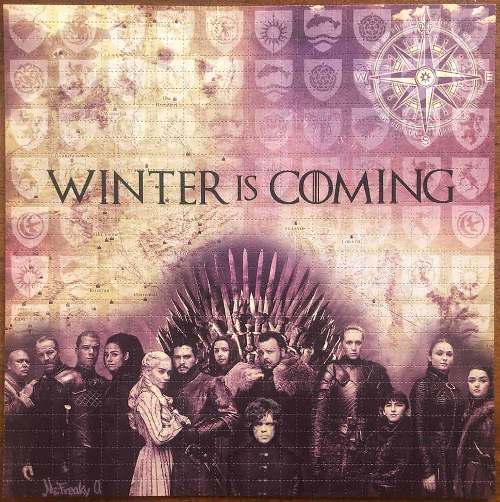 Game of Thrones Winter is Coming Blotter Art