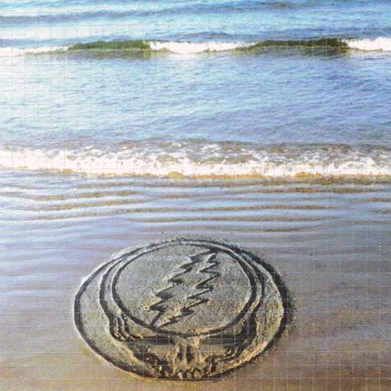 Grateful Dead Steal Your Face Beach Blotter Art