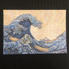 Hokusai – The Great Wave (Randal Roberts Remix) Blotter Art LE 125 - Shakedown Gallery