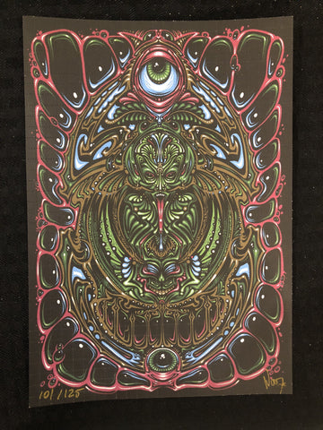 """Machine Elf"" Blotter Art Signed by Jeff Wood - Shakedown Gallery"