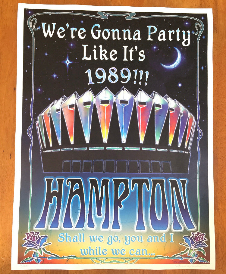 Hampton '89 Tina Carpenter signed, numbered poster