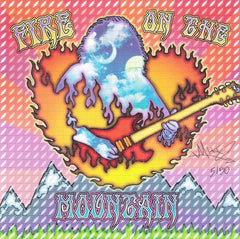 Jerry Fire On The Mountain Signed Blotter Art
