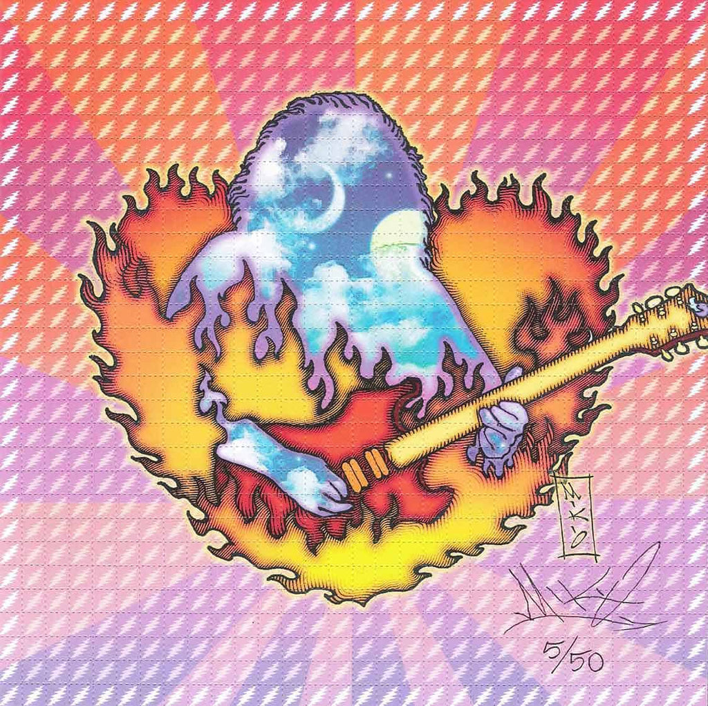 Jerry Heart Signed Blotter Art