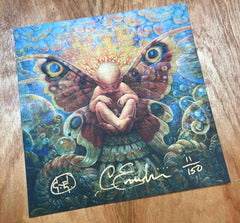 Metamorphosis Blotter Art, Signed and Numbered by Cory and Catska Ench