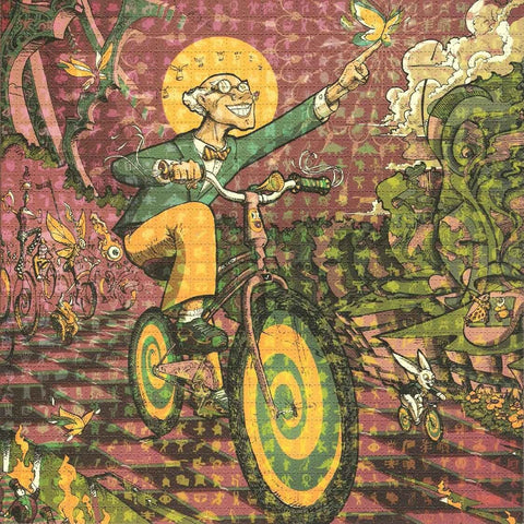 Michael Divine Bicycle Day Parade Blotter Art - Shakedown Gallery
