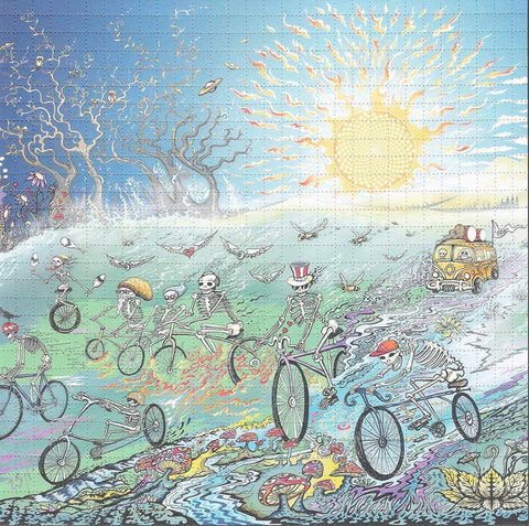 Mike DuBois Bicycle Day 2019 Blotter Art - Shakedown Gallery