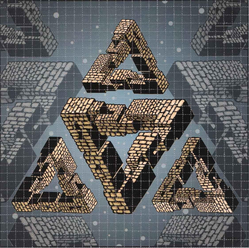 Mike DuBois Triangle Pyramid Blotter Art - Shakedown Gallery
