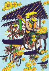 Jim Pollock Bicycle Day Blotter Art - Shakedown Gallery