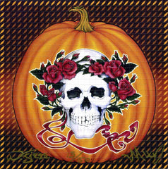 Grateful Dead Halloween Pumpkin Signed Numbered Blotter Art