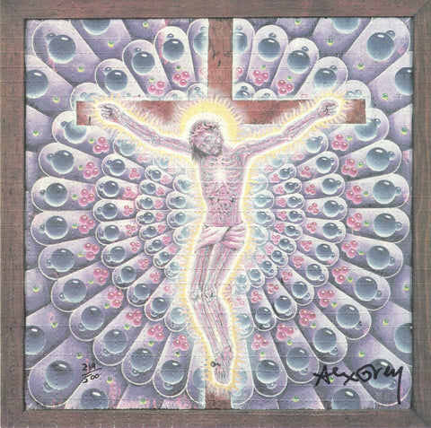 Alex Grey Purple Carbon Jesus Blotter Art - Shakedown Gallery