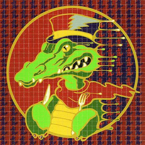 "Richard Biffle ""Alligator"" Blotter Art - Shakedown Gallery"