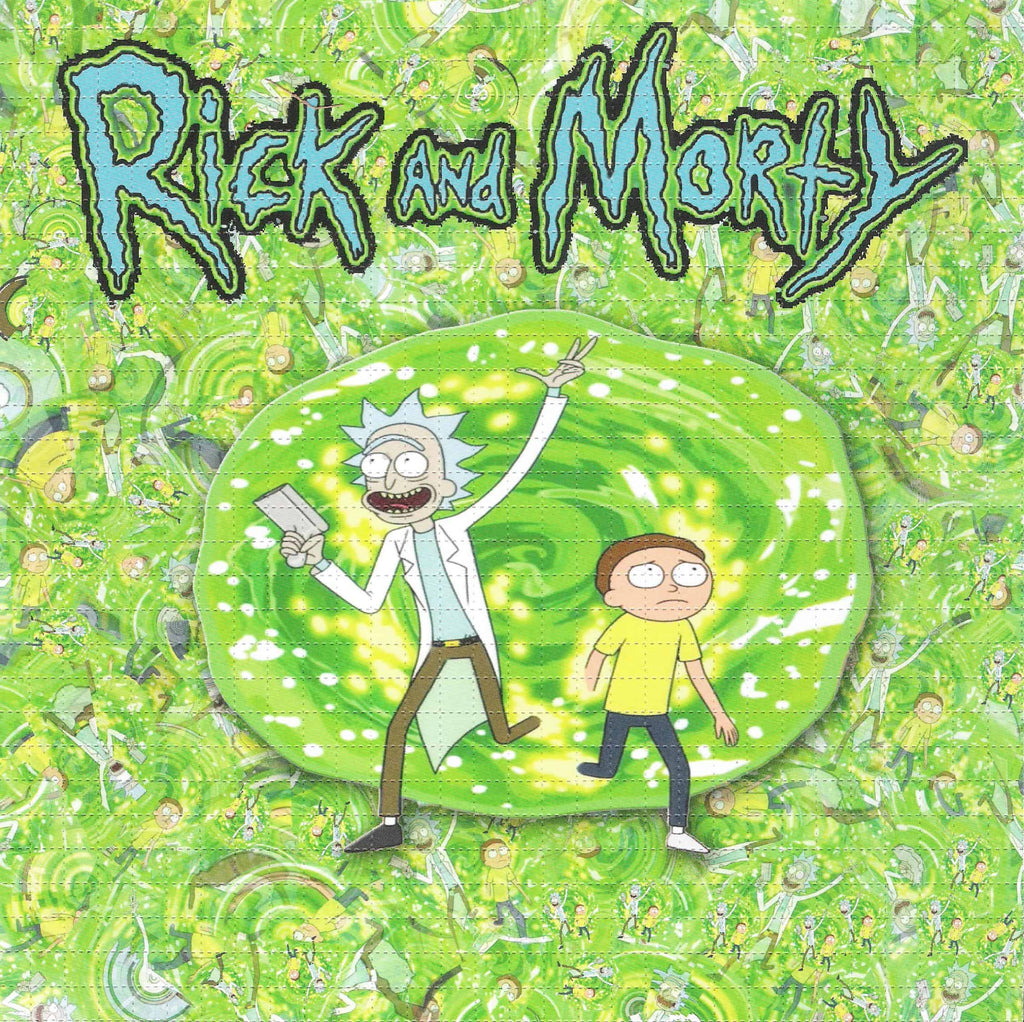 Rick and Morty blotter art. Go down the wormhole with the sci-fi duo.