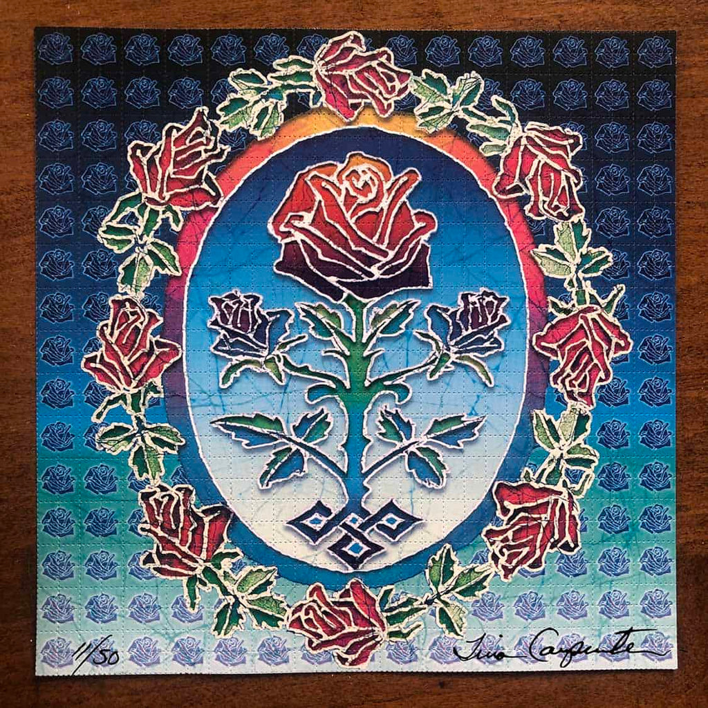 Tina Carpenter Signed, Numbered Rose Blotter Art