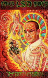 "Alex Grey ""St Albert"" Bicycle Day Blotter Art"
