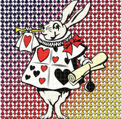 White Rabbit Blotter Art - Shakedown Gallery