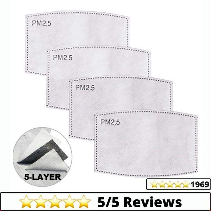 Medical-Defends 20 Pcs Pack Replacement Filters For Face Mask