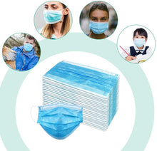 Load image into Gallery viewer, Medical-Defends 3 Layer Face Mask, Blue