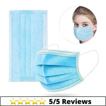 Load image into Gallery viewer, Medical-Defends 50 Pcs Pack 3 Layer Face Mask, Blue