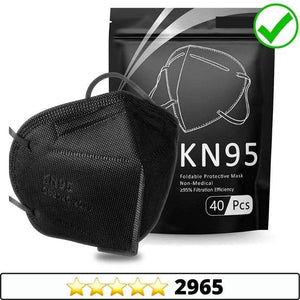 Medical-Defends face mask Black / 5 Pcs KN95 Face Mask, Individually Wrapped Mask 5-Ply Layer Filter