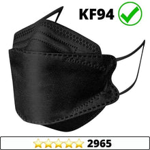 Load image into Gallery viewer, Medical-Defends face mask Black / 5 Pcs Pack 4-Layers Premium Protective KF94 Certified Face Safety, Korea Disposable KF94 Face Masks