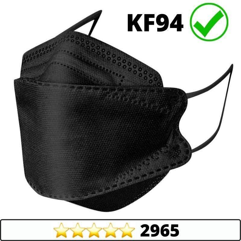 Medical-Defends face mask Black / 5 Pcs Pack 4-Layers Premium Protective KF94 Certified Face Safety, Korea Disposable KF94 Face Masks