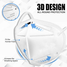 Load image into Gallery viewer, Medical-Defends face mask KN95 Face Mask, Individually Wrapped Mask 5-Ply Layer Filter