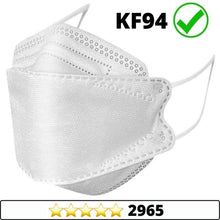 Load image into Gallery viewer, Medical-Defends face mask White / 5 Pcs Pack 4-Layers Premium Protective KF94 Certified Face Safety, Korea Disposable KF94 Face Masks