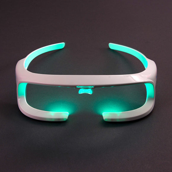 Re-Timer Light Therapy Glasses turned on